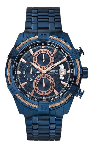Relogio Guess W0522g3 Azul 100% Original Completo Com Caixa
