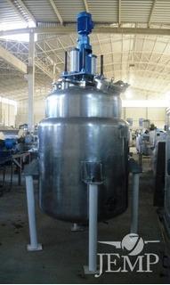 Reator Aço Inox Sanitário 316, Cap. 1.2m³