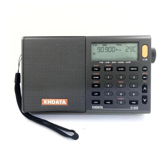 Xhdata D-808 Rádio Ssb Fm/sw/mw/lw/air (aviação)