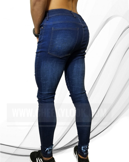 Jeans Slim Fit Rash 757 Prelavados Y Rasgados Cheekylook