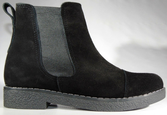 Zapatos Botineta Cuero Gamuza C/elastico Art 580