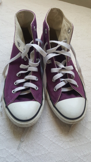 Zapatillas All Star Convers T 35 Violetas Impecables Botitas