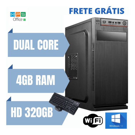 Cpu Nova Pronta Para Uso 4gb Ram Hd 320gb Win10 Aproveite.