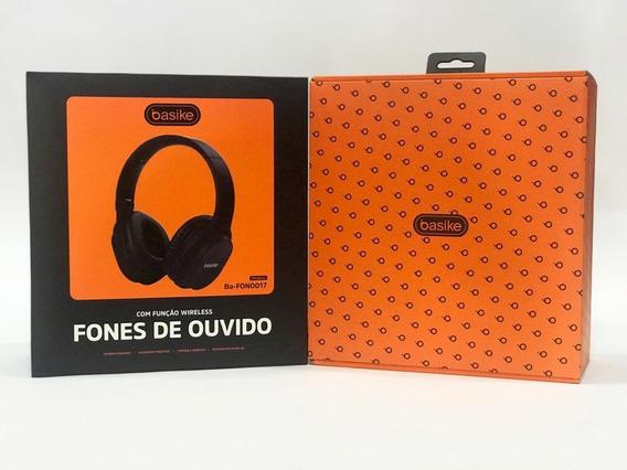 Fone Bluetooth 0017 Grande Fone Ouvido Basike Original