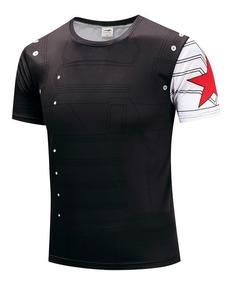 Camisa Camiseta Soldado Invernal Preta Pronta Entrega