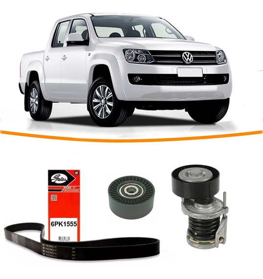 Kit Correia + Tensor + Polia Do Alternador Amarok 2.0 16v
