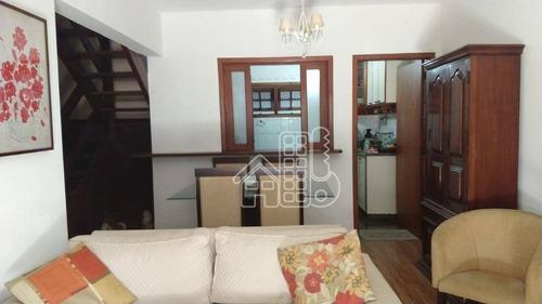 Casa Com 3 Dormitórios À Venda, 140 M² Por R$ 720.000,00 - Itaipu - Niterói/rj - Ca1790