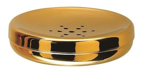 Imagem 1 de 1 de Saboneteira Redonda Spa Golden