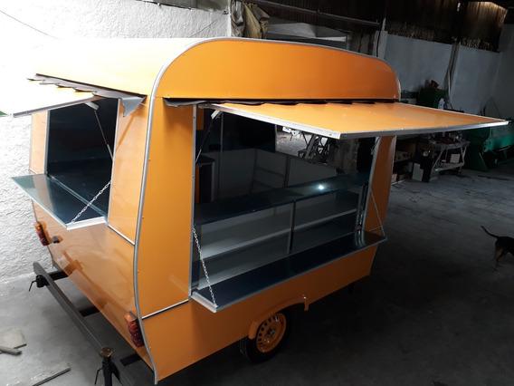 Trailer Food Truck - Modelo Retrô - Fabricação Sob Encomenda