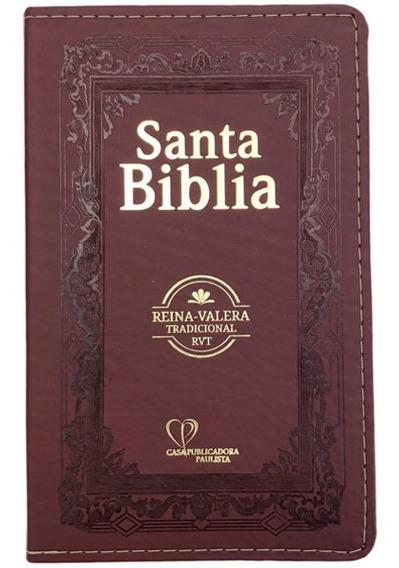 Bíblia Sagrada Em Espanhol Rvt - Vinho C/ Dourado