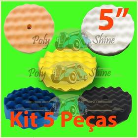 Kit Polimento - 5 Boinas De Espuma Dupla Face 5 Polegadas