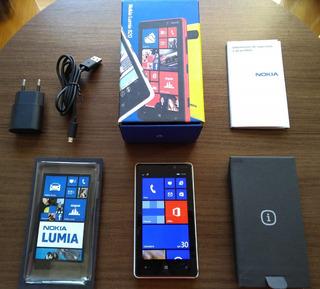 Smartphone Nokia Lumia 820 C/ Carreg./cx/manuais Originais!!