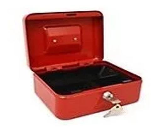 Caja Fuerte Metálica Mediana Con Llave Para Dinero 20 X 16cm