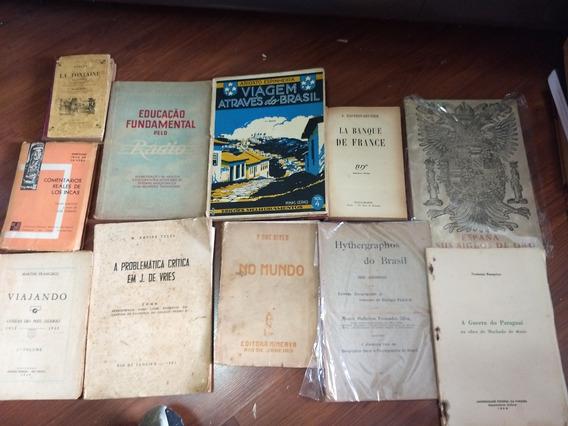 11 Livros Raros E Antigos Temas Nacionais Etc Lote