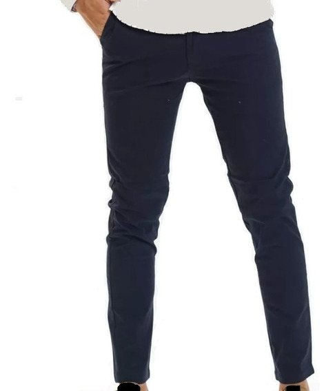 Pantalon Corte Chino Chupin Elastizado Gabardina