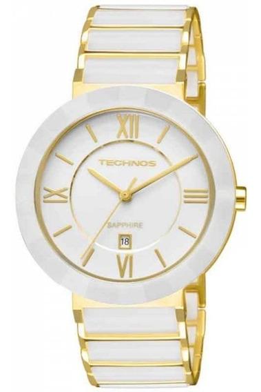 Relógio Technos Feminino Ceramic Branco 2015bv/4b