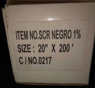 Papel Ahumado Oscuro Negro 1% Bobina 50cmx60mts (60verdes)