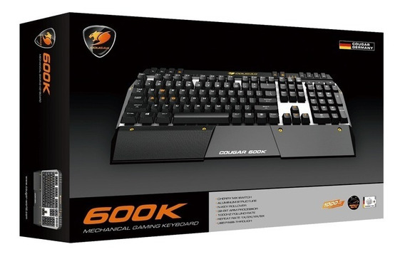 Teclado Cougar Gamer Mecanico 600k Br Cherry My Brown Switch