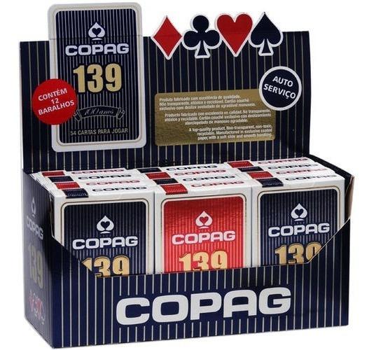 Baralho Copag 139 Com 12 Jogos E 55 Cartas + Nota Fiscal
