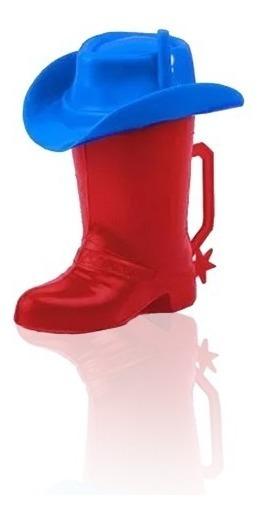 Vaso Bota Cowboy Roja Infantil Nenes Nenas