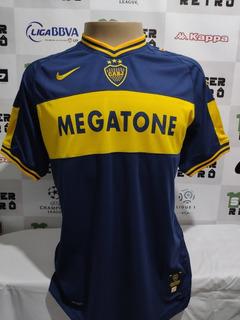 Camisa Boca Juniors Libertadores 2007 Riquelme 10 À P/ Ent