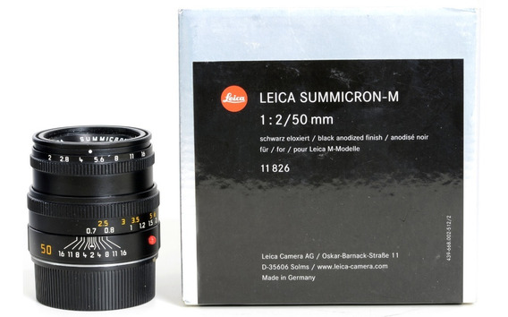 Objetiva Leica M Summicron 50mm 2.0 Novinha