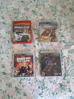 4 Juegos Ps3: Gran Turismo, Midnight Club, Uncharted 3