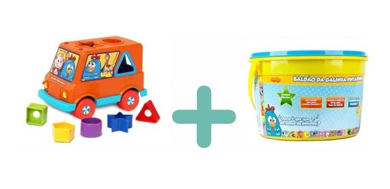 Galinha Pintadinha Kit Baby Van + Baldão Massinha De Modelar