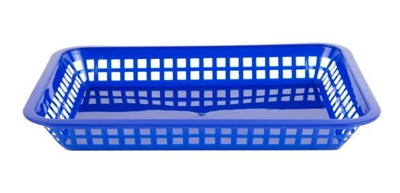 Canasta Rectangular 31 X 21 Cm Color Azul / 12 Pack