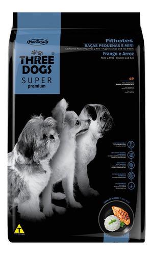 Imagen 1 de 2 de Comida Perro Three Dogs Cachorro Raza Pequeña 1kg
