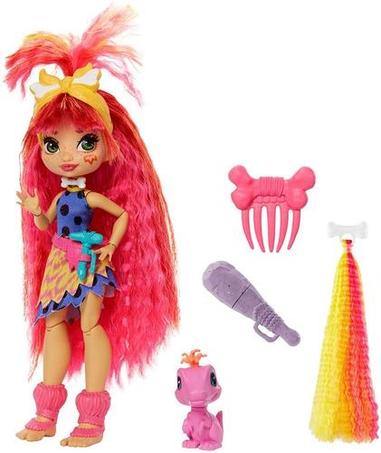 Imagen 1 de 6 de Mattel, Muñeca Emberly Cave Club , Con Cabello Rosa, Muñeca