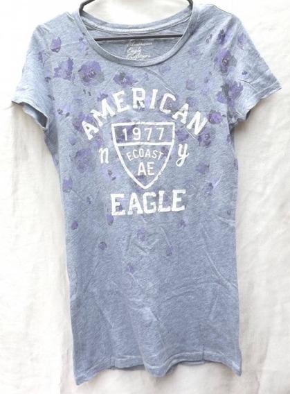 059 Playera American Eagle Gris Dama