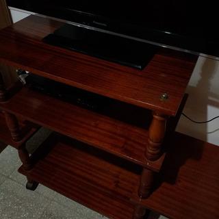 Mesa Para Tv De Madera Laqueada Color Roble Oscuro