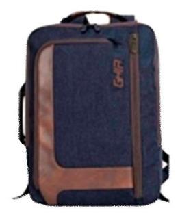 Backpack / Maletin 2 En 1 Ghia 15.6 Azul/cafe By Tecnowow
