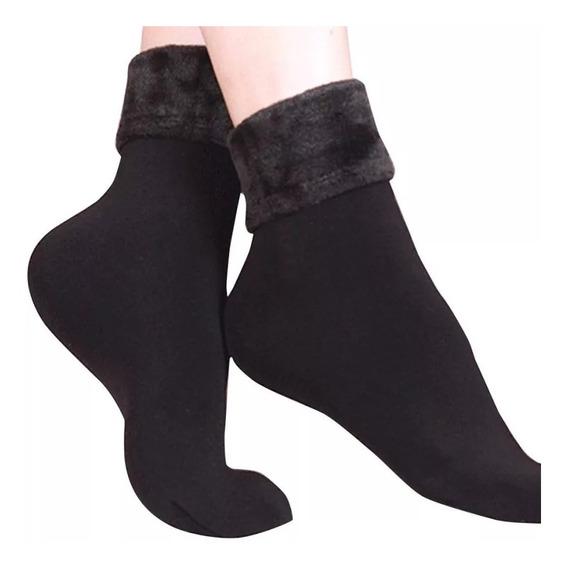 Calcetines Térmicos Terciopelo-peluche Para Dama