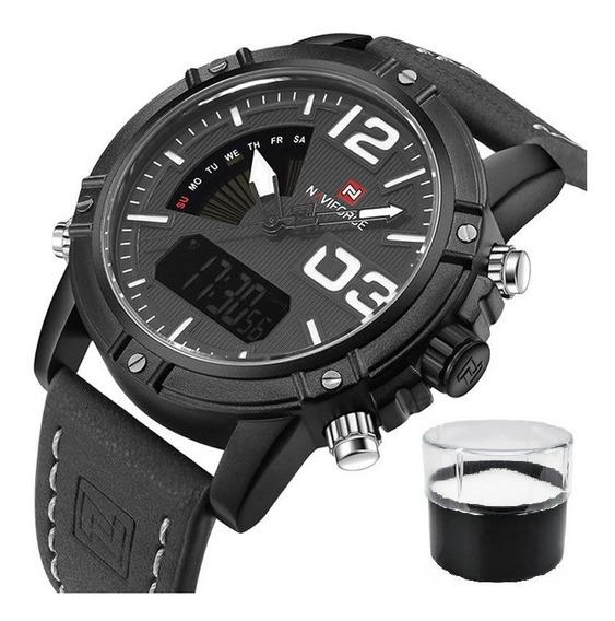 Relógio Naviforce 9095 Militar Original Nota Fiscal Promoção