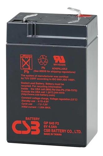 Baterias Csb 6v 4.5ah Lamparas De Emergencia Registradoras
