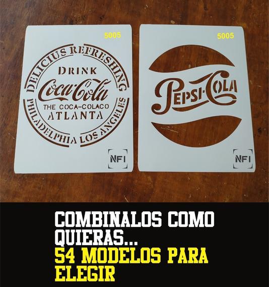 Stencil Bebida Gaseosa Cerveza Vintage Cocina 21x29 Combox4