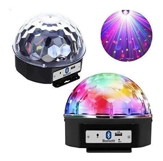Nova Bola Maluca Led Rgb Holográfico Mp3 Magic + Controle