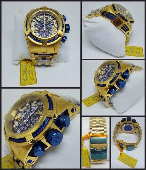 Relógio Invicta Bolt Zeus Skeleton Azul