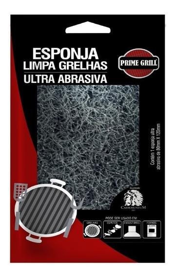 Esponja Ultra Abrasiva Limpa Grelhas Prime Grill Carborundum