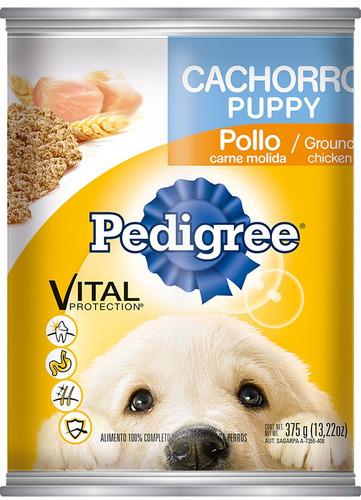 Imagen 1 de 1 de Alimento Pedigree Cachorro Molida Pollo Lata 375 Gr