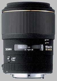 Lente Sigma 105mm 1:2.8 Dg Macro Ex - Nova - Nota Fiscal