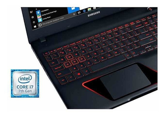Notebook Gamer Samsung Odyssey I7-7700hq, Gtx 1050 4gb, 1tb