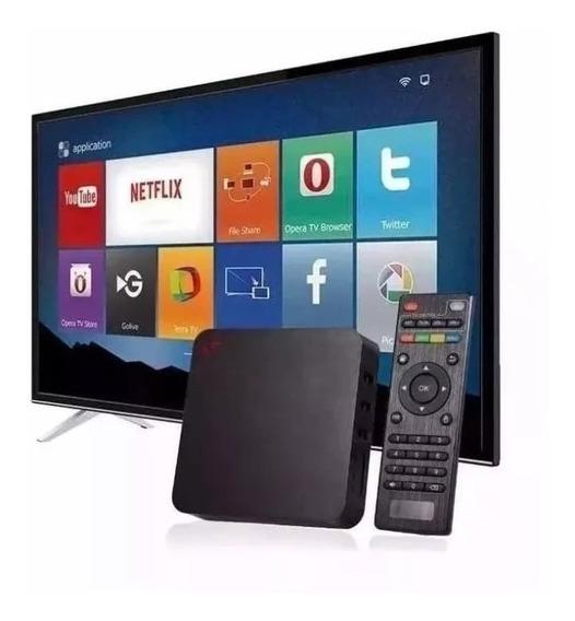 Conversor Smart Box Tv 4gb Ram 32gb Armazenamento Android 9
