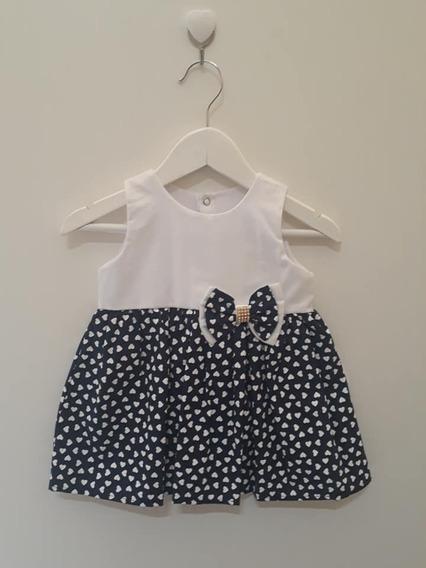 Vestido Pingo Doce Para Bebê Menina Coração
