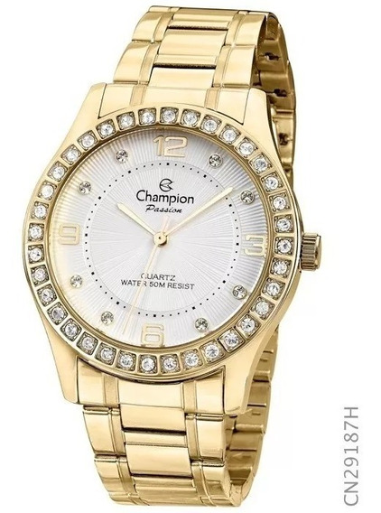 Relógio Champion Feminino Banhado 18k Original Cn29187h