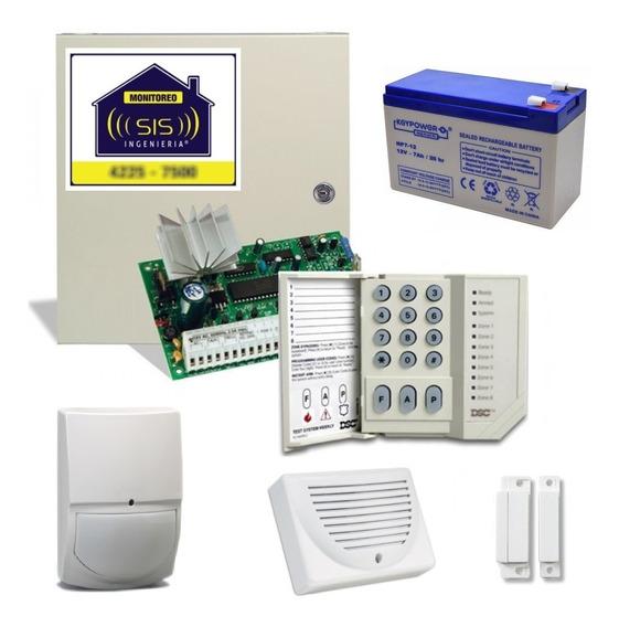 Kit Alarma Domiciliaria Dsc 585 Seguridad Llamador A Celulares Completo