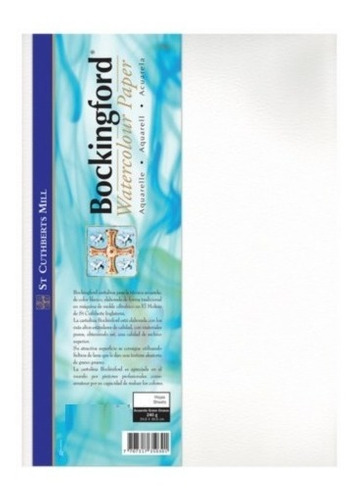 Papel Acuarela Profesional 240g Bookingford 1/8 X10 Hojas