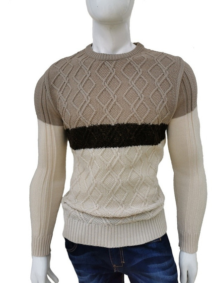 Suéter Tejido Casual Moda Para Caballero